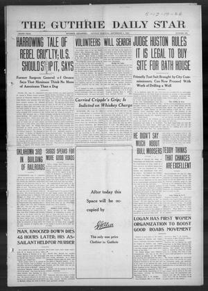 Primary view of object titled 'The Guthrie Daily Star (Guthrie, Okla.), Vol. 9, No. 150, Ed. 1 Sunday, September 1, 1912'.
