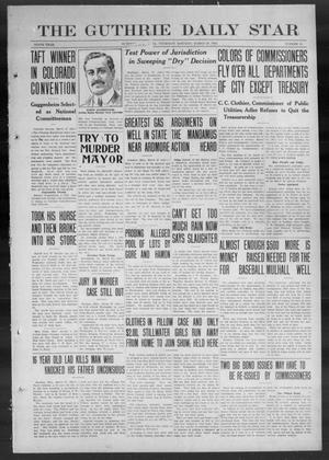 Primary view of object titled 'The Guthrie Daily Star (Guthrie, Okla.), Vol. 9, No. 15, Ed. 1 Thursday, March 28, 1912'.