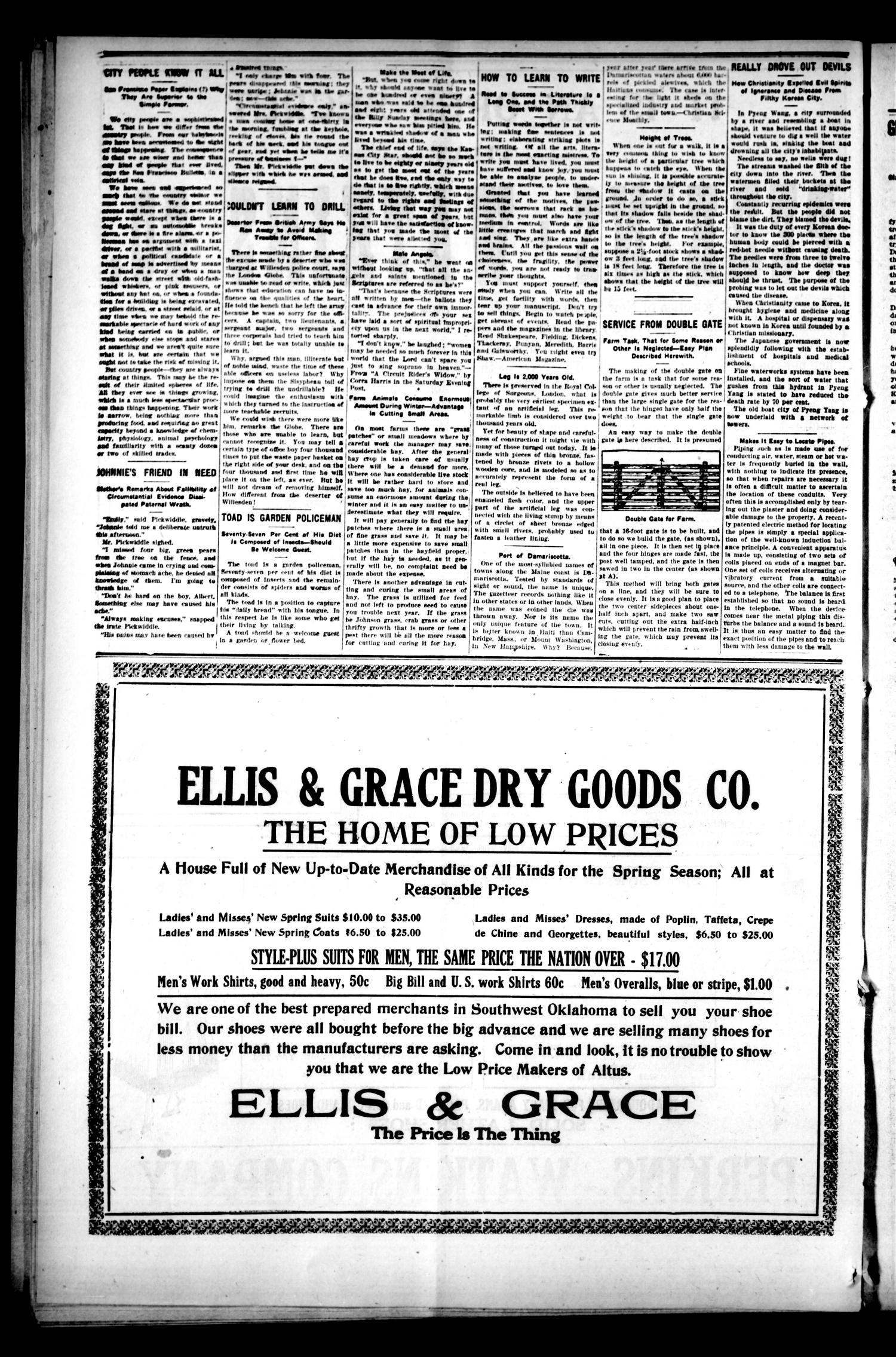 The Altus Weekly News. (Altus, Okla.), Vol. 19, No. 4, Ed. 1 Thursday, March 22, 1917                                                                                                      [Sequence #]: 4 of 12