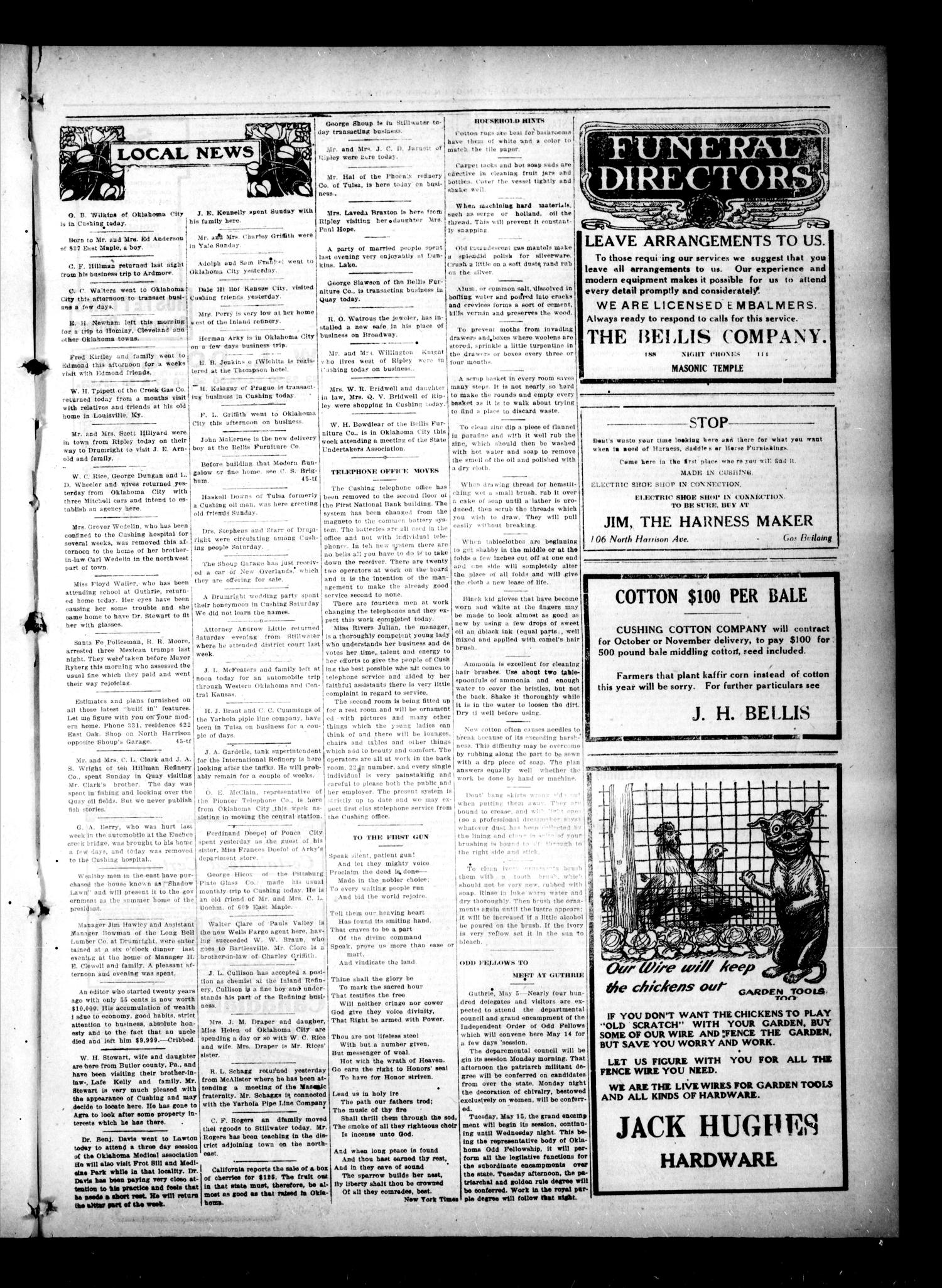 The Cushing Independent (Cushing, Okla.), Vol. 21, No. 37, Ed. 1 Friday, May 11, 1917                                                                                                      [Sequence #]: 3 of 8