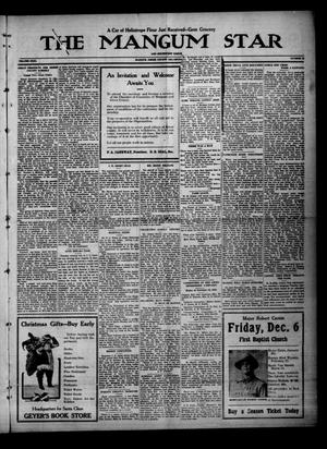 Primary view of object titled 'The Mangum Star And Southwest Eagle (Mangum, Okla.), Vol. 31, No. 25, Ed. 1 Friday, December 6, 1918'.