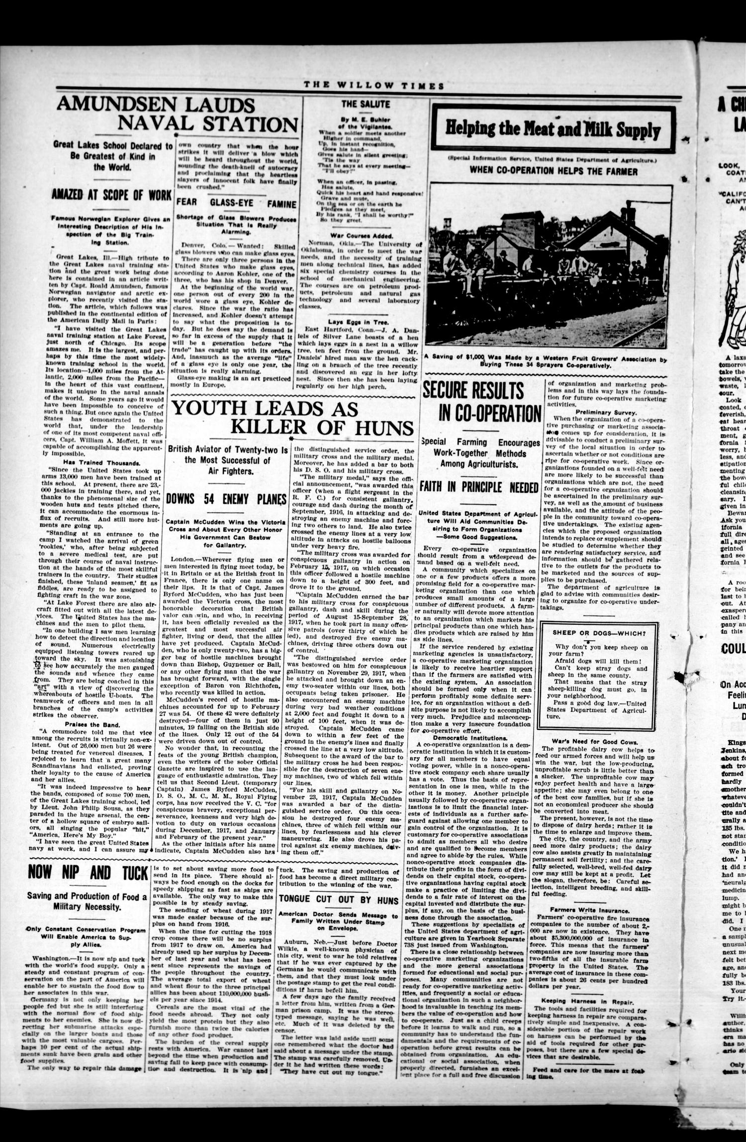 The Willow Times (Willow, Okla.), Vol. 2, No. 49, Ed. 1 Friday, May 17, 1918                                                                                                      [Sequence #]: 2 of 8
