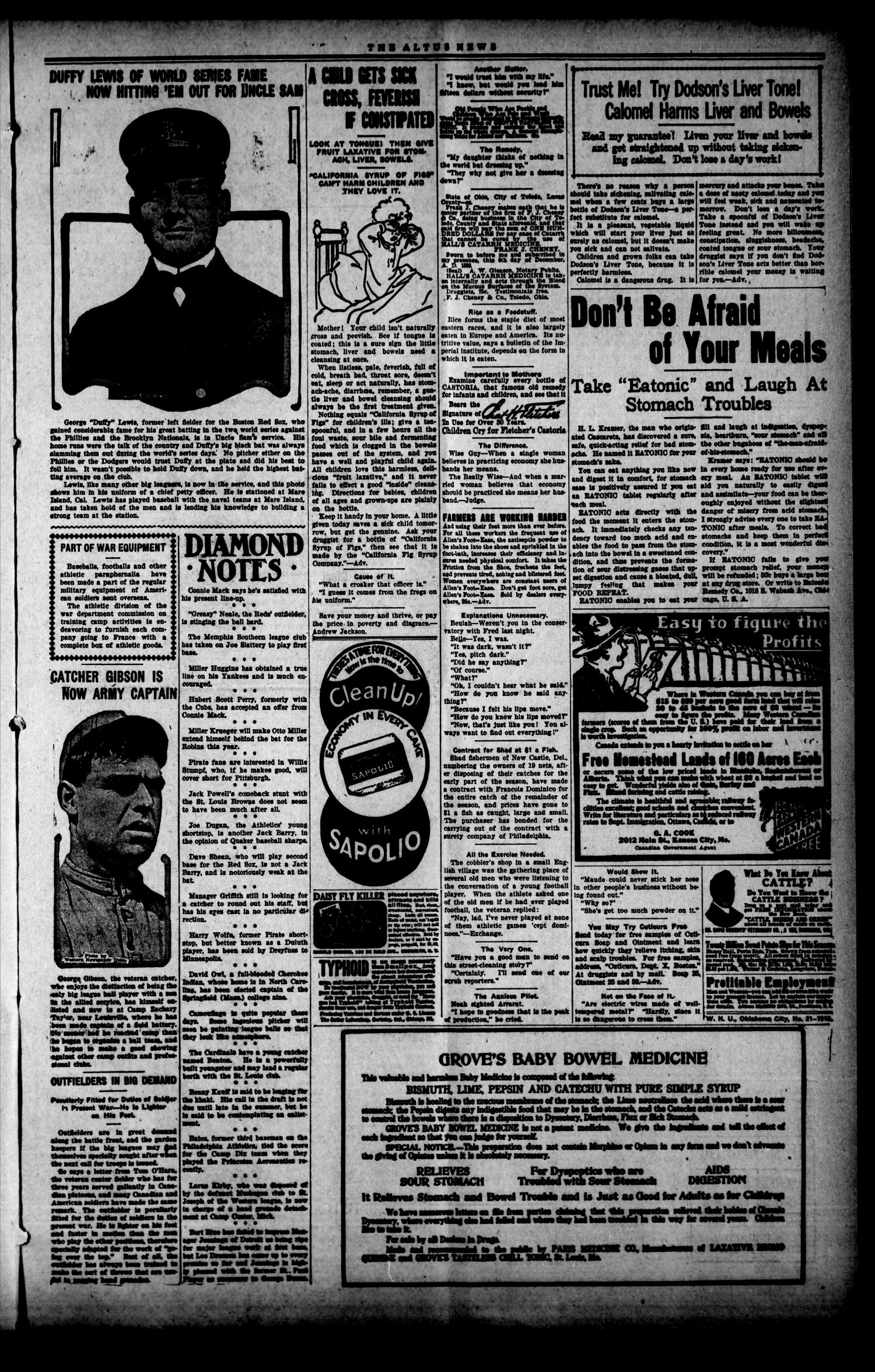 The Altus Weekly News (Altus, Okla.), Vol. 19, No. 13, Ed. 1 Thursday, May 23, 1918                                                                                                      [Sequence #]: 3 of 8