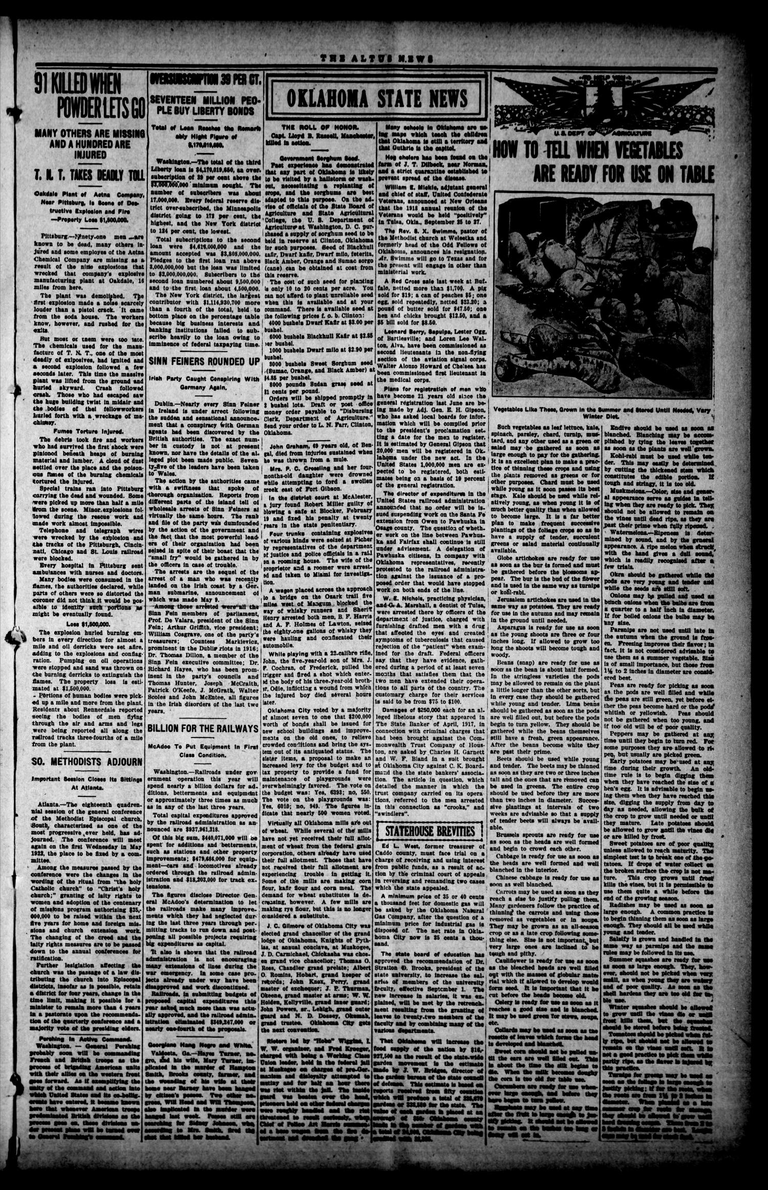 The Altus Weekly News (Altus, Okla.), Vol. 19, No. 13, Ed. 1 Thursday, May 23, 1918                                                                                                      [Sequence #]: 7 of 8