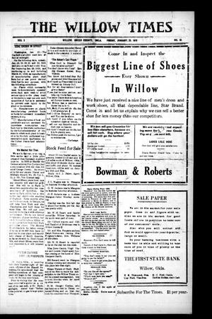 Primary view of object titled 'The Willow Times (Willow, Okla.), Vol. 2, No. 32, Ed. 1 Friday, January 25, 1918'.