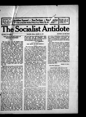 Primary view of The Socialist Antidote (Granite, Okla.), Vol. 2, No. 11, Ed. 1 Thursday, March 15, 1917