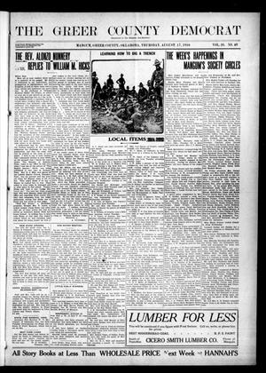 Primary view of object titled 'The Greer County Democrat (Mangum, Okla.), Vol. 26, No. 49, Ed. 1 Thursday, August 17, 1916'.