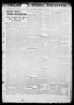 Primary view of object titled 'Oklahoma State Register. (Guthrie, Okla.), Vol. 13, No. 4, Ed. 1 Thursday, January 7, 1904'.