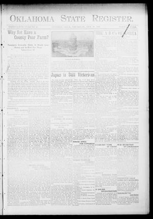 Primary view of object titled 'Oklahoma State Register. (Guthrie, Okla.), Vol. 13, No. 10, Ed. 1 Thursday, February 18, 1904'.