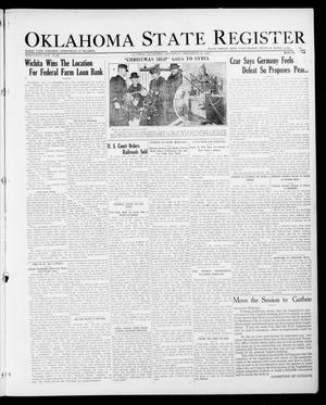 Primary view of object titled 'Oklahoma State Register (Guthrie, Okla.), Vol. 26, No. 35, Ed. 1 Thursday, December 28, 1916'.