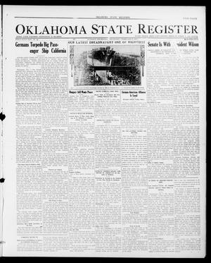 Primary view of object titled 'Oklahoma State Register (Guthrie, Okla.), Vol. 26, No. 41, Ed. 1 Thursday, February 8, 1917'.