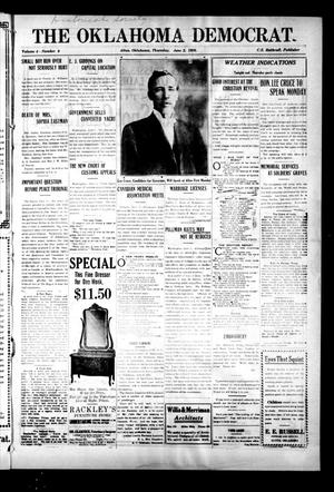 Primary view of object titled 'The Oklahoma Democrat. (Altus, Okla.), Vol. 4, No. 9, Ed. 1 Thursday, June 2, 1910'.