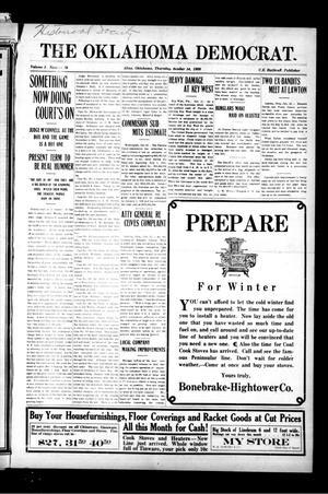 Primary view of The Oklahoma Democrat. (Altus, Okla.), Vol. 3, No. 28, Ed. 1 Thursday, October 14, 1909