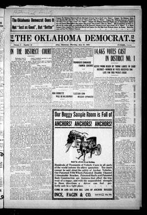 Primary view of object titled 'The Oklahoma Democrat. (Altus, Okla.), Vol. 2, No. 14, Ed. 1 Thursday, June 25, 1908'.
