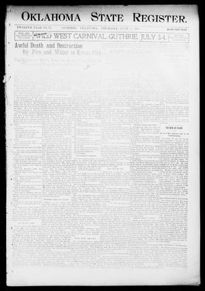 Primary view of object titled 'Oklahoma State Register. (Guthrie, Okla.), Vol. 12, No. 23, Ed. 1 Thursday, June 4, 1903'.