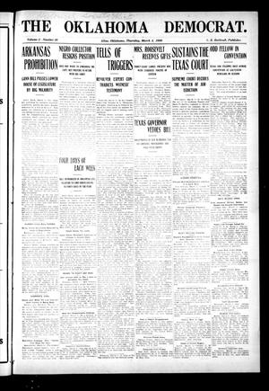 Primary view of object titled 'The Oklahoma Democrat. (Altus, Okla.), Vol. 2, No. 49, Ed. 1 Thursday, March 4, 1909'.