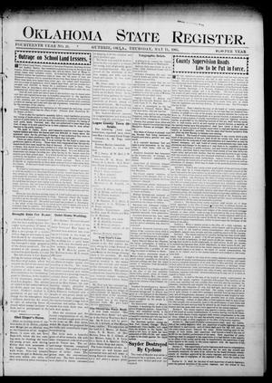Primary view of object titled 'Oklahoma State Register. (Guthrie, Okla.), Vol. 14, No. 19, Ed. 1 Thursday, May 11, 1905'.