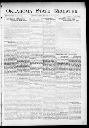 Primary view of object titled 'Oklahoma State Register. (Guthrie, Okla.), Vol. 13, No. 24, Ed. 1 Thursday, May 26, 1904'.