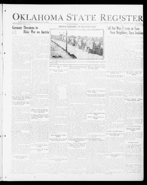 Primary view of object titled 'Oklahoma State Register (Guthrie, Okla.), Vol. 27, No. 42, Ed. 1 Thursday, February 28, 1918'.