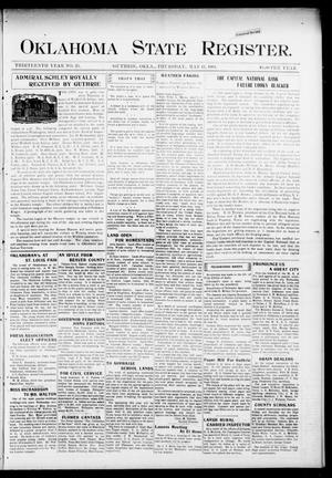 Primary view of object titled 'Oklahoma State Register. (Guthrie, Okla.), Vol. 13, No. 23, Ed. 1 Thursday, May 19, 1904'.