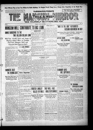 Primary view of The Mangum Mirror (Mangum, Okla.), Vol. 1, No. 14, Ed. 1 Friday, May 4, 1917