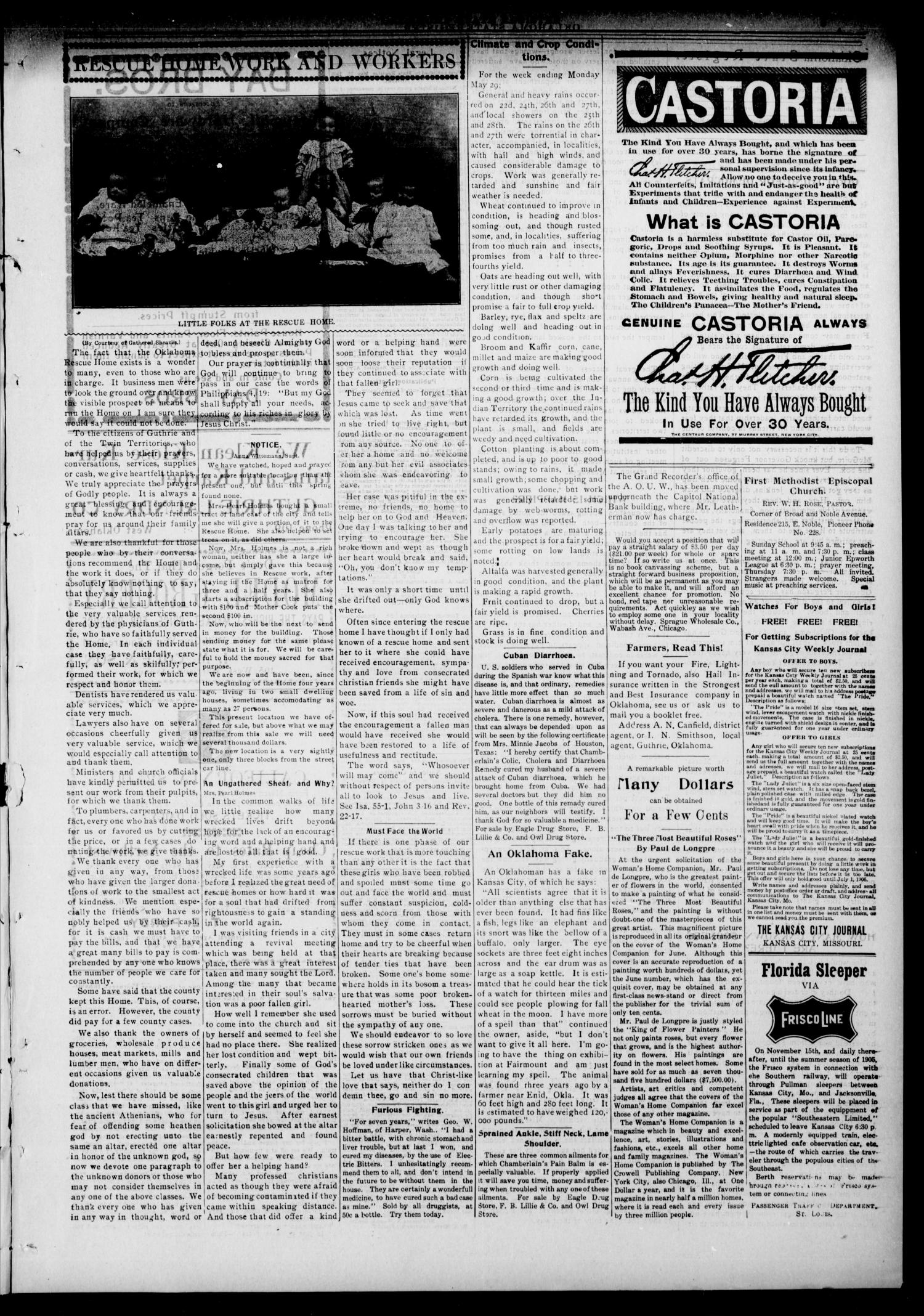 Oklahoma State Register. (Guthrie, Okla.), Vol. 14, No. 22, Ed. 1 Thursday, June 1, 1905                                                                                                      [Sequence #]: 3 of 8