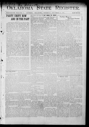 Primary view of object titled 'Oklahoma State Register. (Guthrie, Okla.), Vol. 13, No. 3, Ed. 1 Thursday, December 31, 1903'.