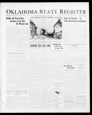 Primary view of object titled 'Oklahoma State Register (Guthrie, Okla.), Vol. 26, No. 51, Ed. 1 Thursday, April 19, 1917'.
