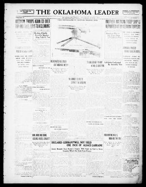 Primary view of object titled 'The Oklahoma Leader (Guthrie, Okla.), Vol. 28, No. 11, Ed. 1 Thursday, March 7, 1918'.