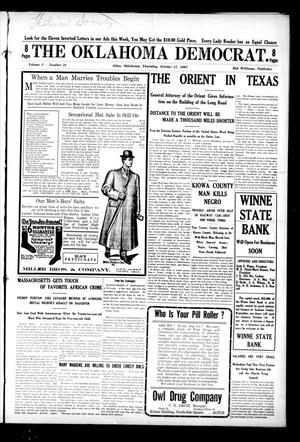 Primary view of object titled 'The Oklahoma Democrat. (Altus, Okla.), Vol. 1, No. 31, Ed. 1 Thursday, October 17, 1907'.