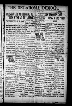 Primary view of object titled 'The Oklahoma Democrat. (Altus, Okla.), Vol. 4, No. 21, Ed. 1 Thursday, September 1, 1910'.
