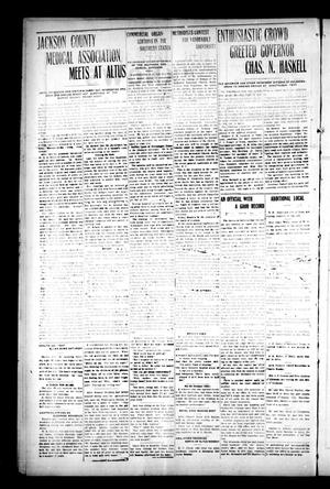 Primary view of object titled 'The Oklahoma Democrat. (Altus, Okla.), Vol. 4, No. 16, Ed. 1 Thursday, July 21, 1910'.