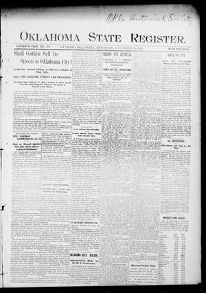 Primary view of object titled 'Oklahoma State Register. (Guthrie, Okla.), Vol. 11, No. 49, Ed. 1 Thursday, November 20, 1902'.