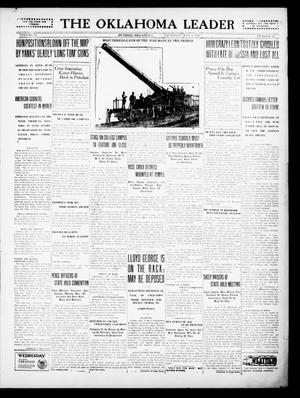 Primary view of object titled 'The Oklahoma Leader (Guthrie, Okla.), Vol. 28, No. 21, Ed. 1 Thursday, May 9, 1918'.