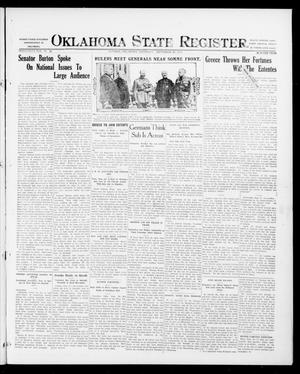 Primary view of object titled 'Oklahoma State Register. (Guthrie, Okla.), Vol. 26, No. 22, Ed. 1 Thursday, September 28, 1916'.