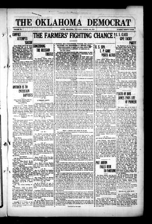 Primary view of object titled 'The Oklahoma Democrat (Altus, Okla.), Vol. 6, No. 23, Ed. 1 Thursday, August 14, 1913'.