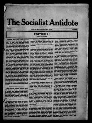 Primary view of object titled 'The Socialist Antidote (Granite, Okla.), Vol. 1, No. 3, Ed. 1 Saturday, January 15, 1916'.