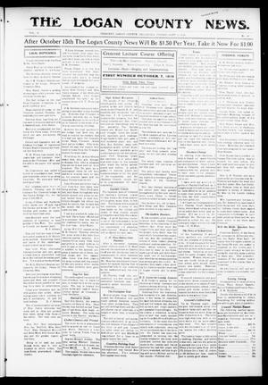 Primary view of object titled 'The Logan County News. (Crescent, Okla.), Vol. 13, No. 46, Ed. 1 Friday, September 22, 1916'.