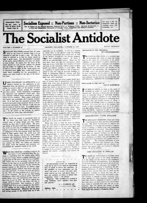 Primary view of object titled 'The Socialist Antidote (Granite, Okla.), Vol. 1, No. 12, Ed. 1 Sunday, October 15, 1916'.