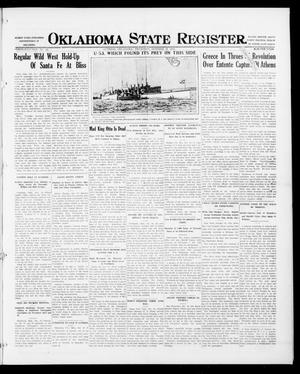 Primary view of object titled 'Oklahoma State Register. (Guthrie, Okla.), Vol. 26, No. 24, Ed. 1 Thursday, October 19, 1916'.
