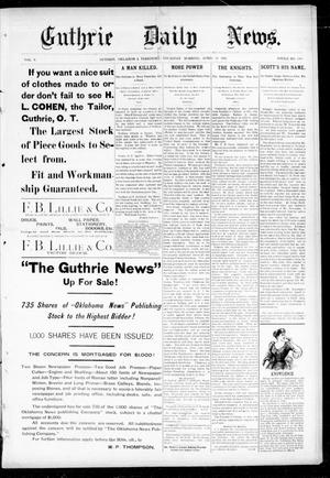 Primary view of object titled 'Guthrie Daily News. (Guthrie, Okla. Terr.), Vol. 5, No. 1468, Ed. 1 Thursday, April 26, 1894'.