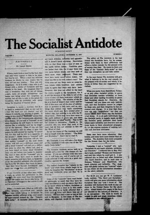 Primary view of object titled 'The Socialist Antidote (Mangum, Okla.), Vol. 1, No. 2, Ed. 1 Wednesday, December 15, 1915'.