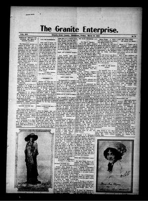 Primary view of object titled 'The Granite Enterprise. (Granite, Okla.), Vol. 16, No. 47, Ed. 1 Friday, March 31, 1916'.