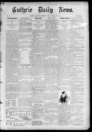 Primary view of object titled 'Guthrie Daily News. (Guthrie, Okla. Terr.), Vol. 5, No. 1479, Ed. 1 Sunday, May 6, 1894'.