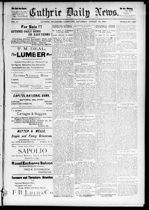 Primary view of object titled 'Guthrie Daily News. (Guthrie, Okla. Terr.), Vol. 5, No. 1569, Ed. 1 Saturday, August 25, 1894'.
