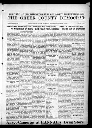 Primary view of object titled 'The Greer County Democrat (Mangum, Okla.), Vol. 25, No. 9, Ed. 1 Thursday, November 12, 1914'.