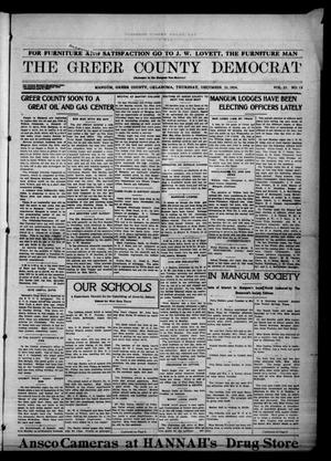 Primary view of object titled 'The Greer County Democrat (Mangum, Okla.), Vol. 25, No. 13, Ed. 1 Thursday, December 10, 1914'.