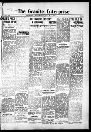 Primary view of The Granite Enterprise. (Granite, Okla.), Vol. 14, No. 51, Ed. 1 Friday, May 2, 1913