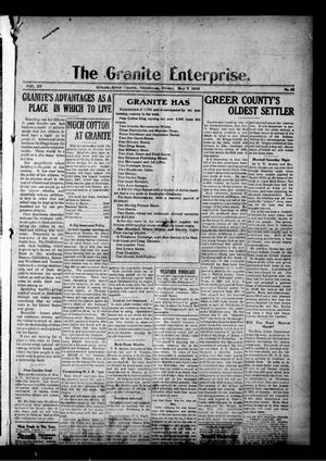 Primary view of object titled 'The Granite Enterprise. (Granite, Okla.), Vol. 15, No. 52, Ed. 1 Friday, May 7, 1915'.
