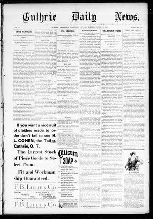 Primary view of object titled 'Guthrie Daily News. (Guthrie, Okla. Terr.), Vol. 5, No. 1465, Ed. 1 Sunday, April 22, 1894'.